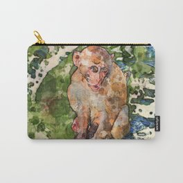 Watercolour Monkey Carry-All Pouch