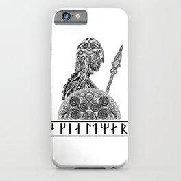 Shieldmaiden (Skjaldmaer) Spear - Black iPhone Case