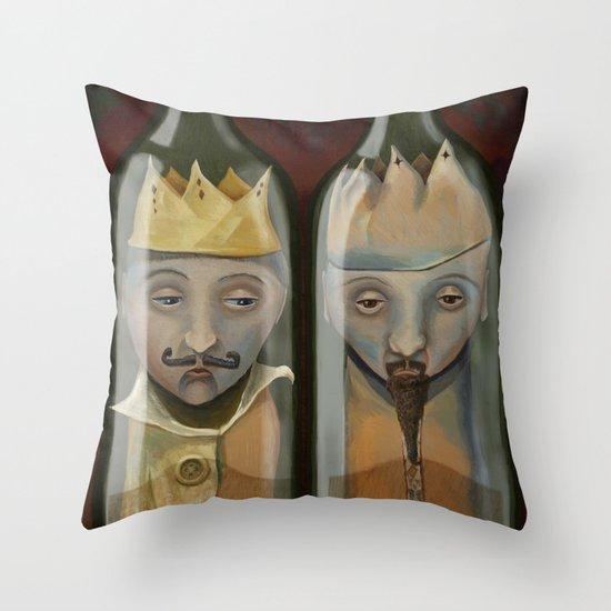 Bottled Kings Throw Pillow