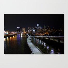 South Street Bridge at Night Canvas Print