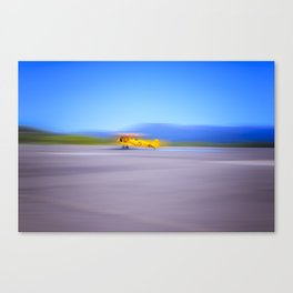Just a Blur a classic two seater airplane Canvas Print