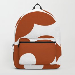 Large size abstract orange flowers Backpack