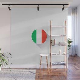 Minimal Italy Flag Wall Mural