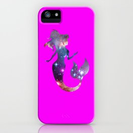Galaxy Mermaid (Pink) iPhone Case
