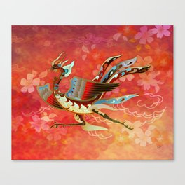 The Empress (Flight of Phoenix) Red Version Canvas Print