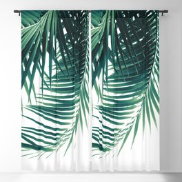 Palm Leaves Green Vibes #6 #tropical #decor #art #society6 Blackout Curtain