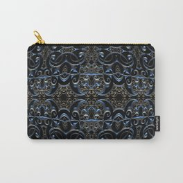Sacred Gothic Charm Dark Mandala Print Carry-All Pouch
