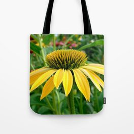 Yellow Echinacea/Coneflower Sideview Tote Bag