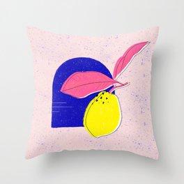 Summer squeeze - lemons Throw Pillow