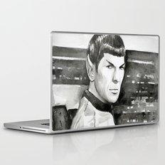 Spock Leonard Nimoy Portrait Sci-fi Geek Painting Laptop & iPad Skin