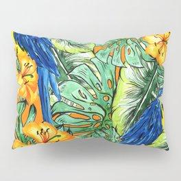 Tropical Pattern Parrots Pillow Sham