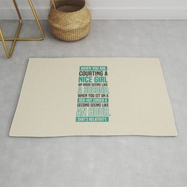 Lab No. 4 When You Are Courting Albert Einstein Famous Life Inspirational Quotes Rug