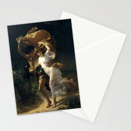 The Storm, 1880 by Pierre Auguste Cot Stationery Cards