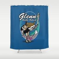 warcraft Shower Curtains featuring Glenn, Battle Ostrich by Siegeworks