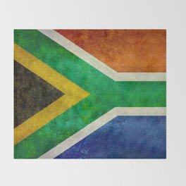 Flag of the Republic of South Africa Throw Blanket