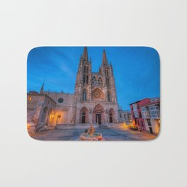 Night view of Burgos Cathedral in Spain. Bath Mat