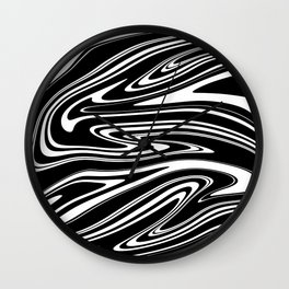 Stripes, distorted 4 Wall Clock