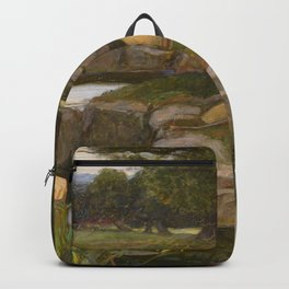 John William Waterhouse - Echo and Narcissus Backpack