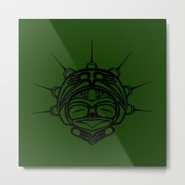 Ink Frog Grass Metal Print