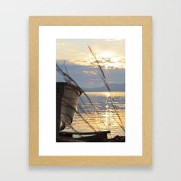 Sunset At Lakeside Framed Art Print