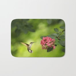Hummer in Flight Bath Mat