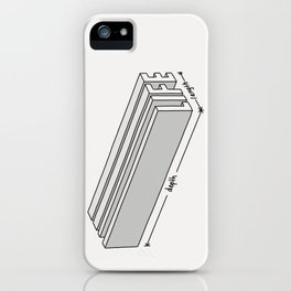 Life is short but deep iPhone Case