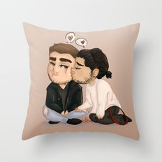 Jealous Chibi Liam Throw Pillow