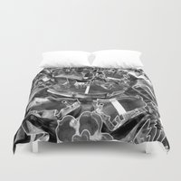 cookie Duvet Covers featuring Cookie Cutters  by Ethna Gillespie
