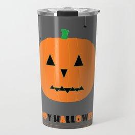 Happy Halloween Pumpkin Travel Mug