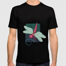 Dragonfly MEDIUM Black Mens Fitted Tee