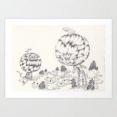 The naked and famous Art Print