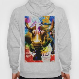 Wall Street Bull Painted Hoody