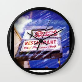 Last plate of grits Wall Clock