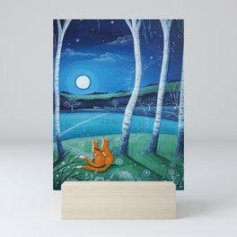 Moon gazers Mini Art Print