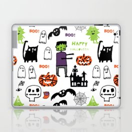 Cute Frankenstein and friends white #halloween Laptop & iPad Skin