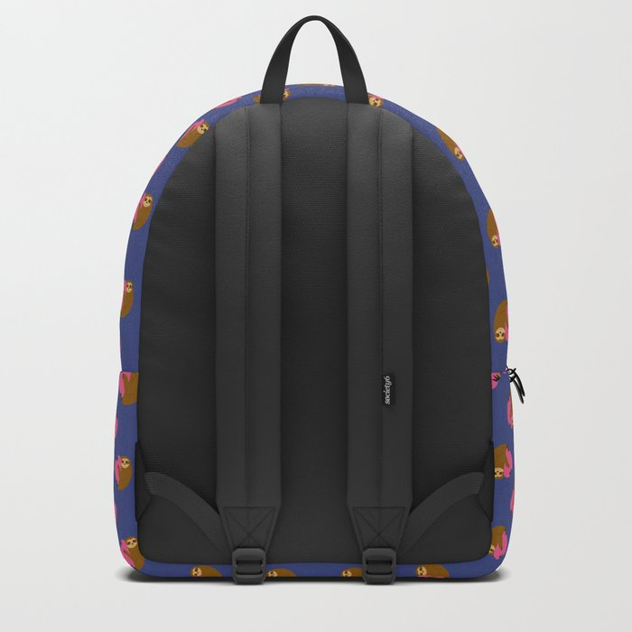 Sloth in love blue Backpack