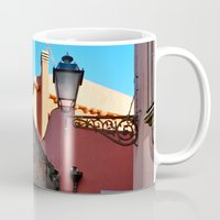 godfather Mugs featuring Sicilian Medieval Village (The Godfather/ Francis Ford Coppola/1971) by CAPTAINSILVA