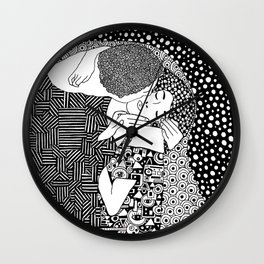 Gustav Klimt - The kiss Wall Clock