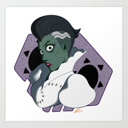 Frankenstein's Bride Art Print