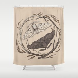 Peppered Moths Shower Curtain