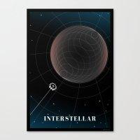 interstellar Canvas Prints featuring Interstellar by Spiritius
