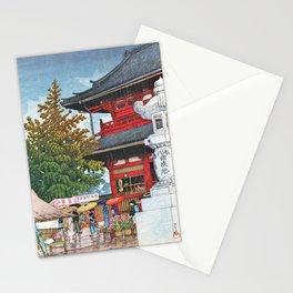 Kawase Hasui - Asakusa Morning Rain - Digital Remastered Edition Stationery Cards