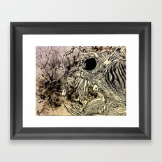 A Light in the Abyss Framed Art Print
