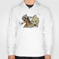 rocket raccoon Hoodies featuring Rocket Raccoon and Groot by artbyteesa