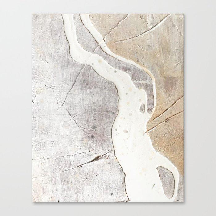 Feels: a neutral, textured, abstract piece in whites by Alyssa Hamilton Art Leinwanddruck
