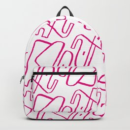 Pink Elephant One Line Backpack