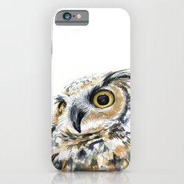 Owl Great Horned Bird of Prey Owls Animals Bird Wildlife iPhone Case