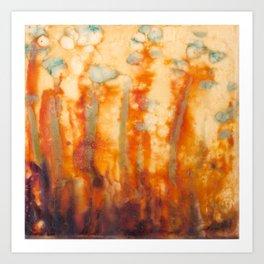 Fire Lillies Art Print