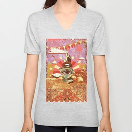 AFTERNOON PSYCHEDELIA REDUX Unisex V-Neck