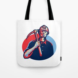 Coal Miner Pick Axe Retro Tote Bag